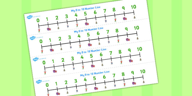 Elf Themed Number Track 0-10 - number tracks, elf, 0-10, number