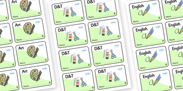 Ash Tree Themed Editable Book Labels - Themed Book label, label, subject labels, exercise book, workbook labels, textbook labels