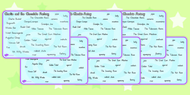 Word Mat to Support Teaching on Charlie and the Chocolate Factory - australia, charlie