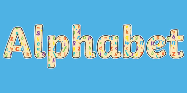Alphabet Display Lettering - English lettering, English display, English display lettering, alphabet