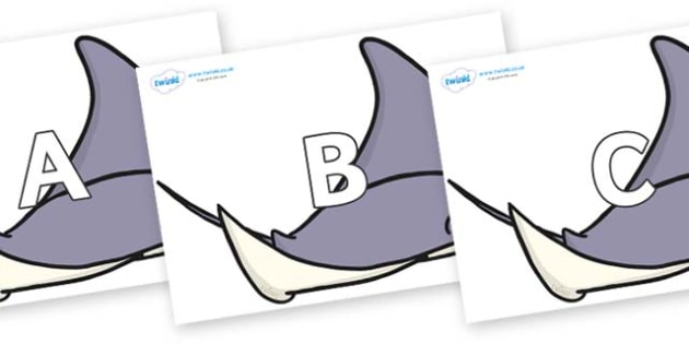 A-Z Alphabet on Rockets - A-Z, A4, display, Alphabet frieze, Display letters, Letter posters, A-Z letters, Alphabet flashcards