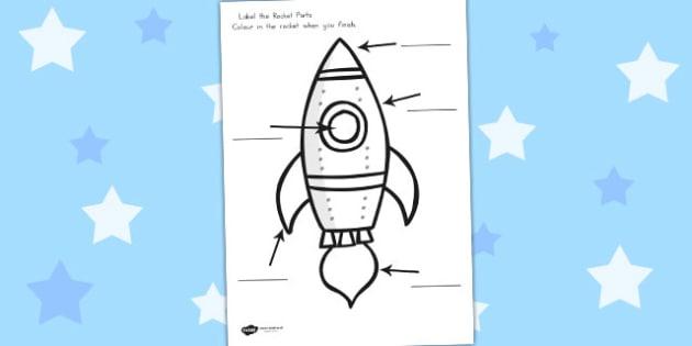Space Rocket Labelling Worksheet - worksheets, rockets, labels