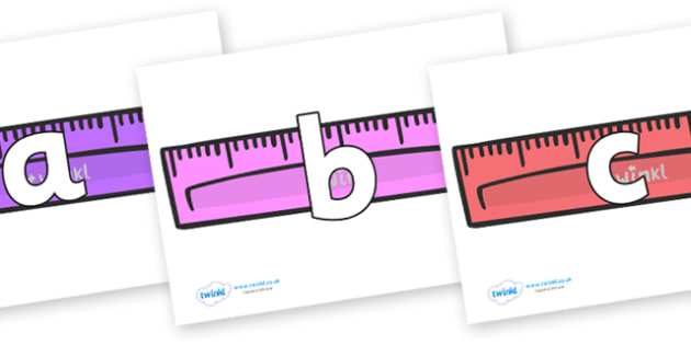 Phoneme Set on Rulers - Phoneme set, phonemes, phoneme, Letters and Sounds, DfES, display, Phase 1, Phase 2, Phase 3, Phase 5, Foundation, Literacy