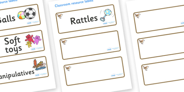 Wren Themed Editable Additional Resource Labels - Themed Label template, Resource Label, Name Labels, Editable Labels, Drawer Labels, KS1 Labels, Foundation Labels, Foundation Stage Labels, Teaching Labels, Resource Labels, Tray Labels, Printable lab