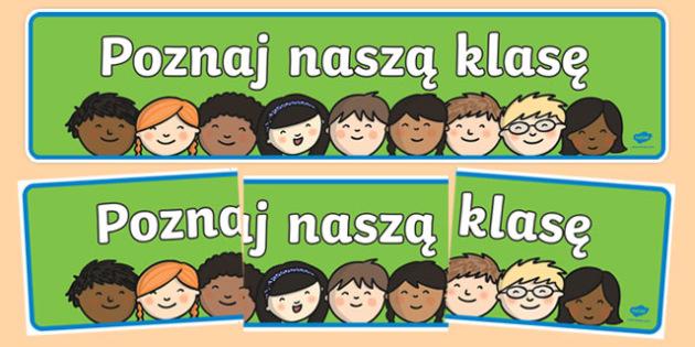 Meet Our Class Display Banner Polish-Polish