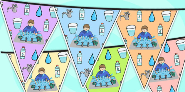 Water Area Themed Bunting - water, water area, classroom areas