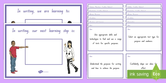 New Zealand Writing Level 4 WALT, Learning To and Next Steps Display Posters