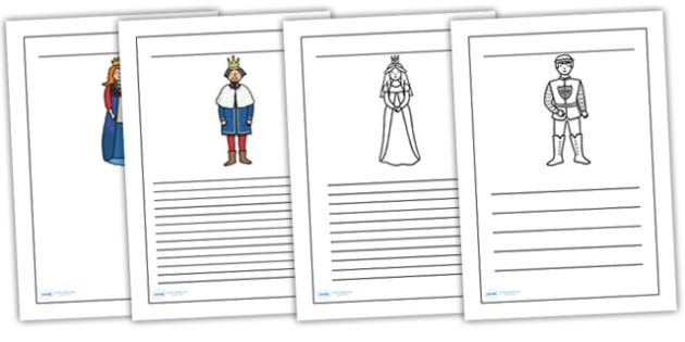 Sleeping Beauty Writing Frames - sleeping beauty, writing frames, writing aids, writing guide, line guide, writing, writing template, template, frames