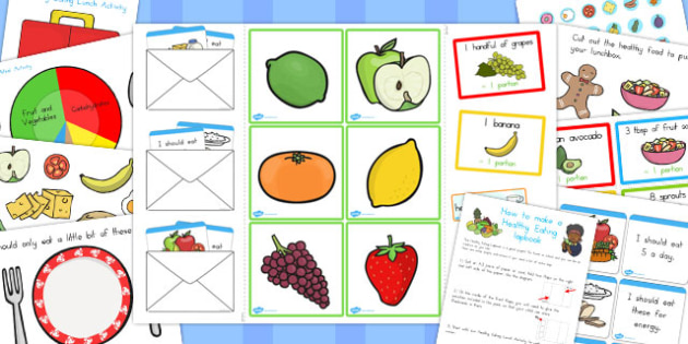 Healthy Eating Lapbook Creation Pack - australia, lapbooks, pack