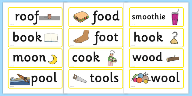 Long and Short 'oo' Word Cards - word cards, words, cards, oos, oo on cards, oo sound, sounds, letters and sounds, sound cards, long and short oo, flashcards, literacy, words on cards