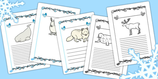 Polar Animals Writing Frames - writing frames, polar, animals