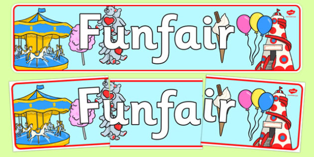 Funfair Display Banner - funfair, display banner, display, banner