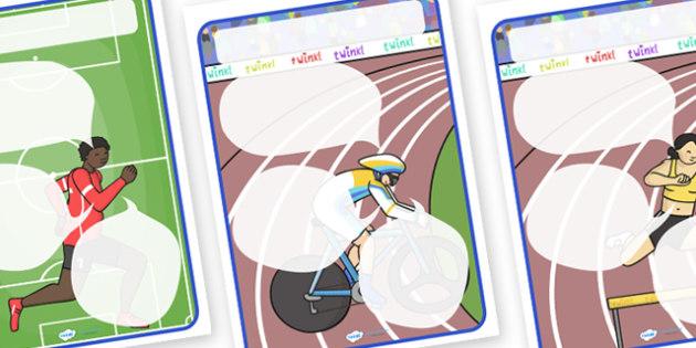 Sport Themed Target Posters Speech Bubbles - target posters speech bubbles, target posters, sport themed target posters, sport themed