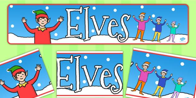 Elves Display Banner - elves, display, banner, elf on the shelf