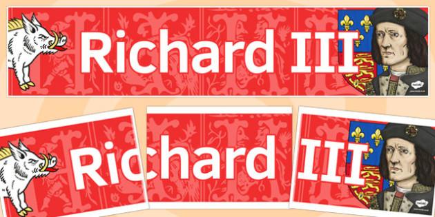 Richard III Display Banner - richard III, display banner, banner