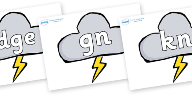 Silent Letters on Weather Symbols (Stormy) - Silent Letters, silent letter, letter blend, consonant, consonants, digraph, trigraph, A-Z letters, literacy, alphabet, letters, alternative sounds