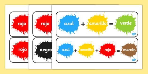 Pósters de mezclar colores