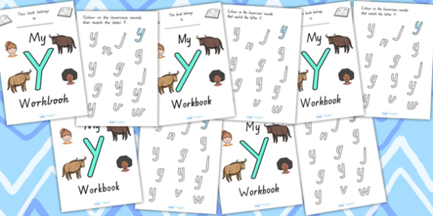 My Workbook Y Uppercase - letter formation, fine motor skills