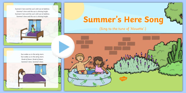 Summer's Here Song PowerPoint