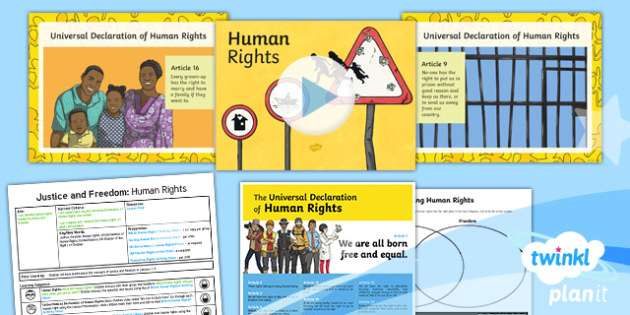 PlanIt - RE Year 6 - Justice and Freedom Lesson 4: Human Rights Lesson Pack