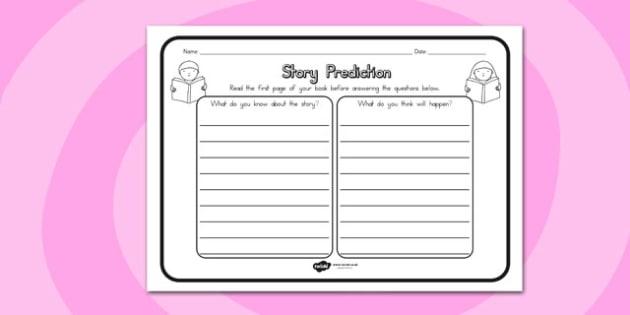 Story Prediction Comprehension Worksheet - australia, story