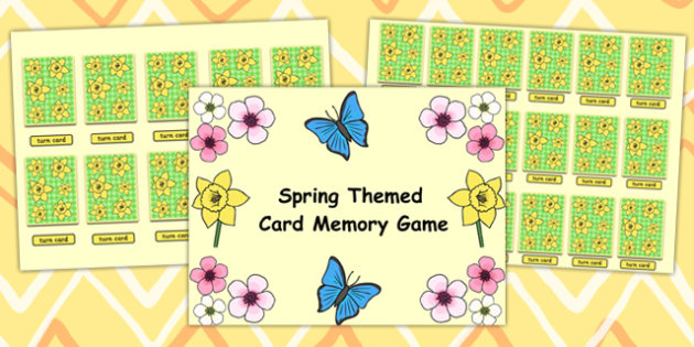 Spring Themed Card Matching Flipchart Game - spring, match, game