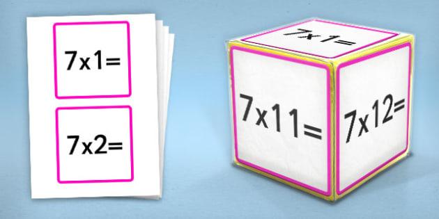Giant Foam Dice Squares 7 Times Tables - foam dice, squares, 6