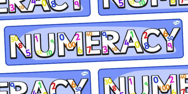 Numeracy Sign - Classroom Area Signs, numeracy, maths, Banner, Foundation Stage Area Signs, Classroom labels, Area labels, Area Signs, Classroom Areas, Poster, Display, Numeracy, Maths, Maths signs, Foundation numeracy, problem solving reasoning and