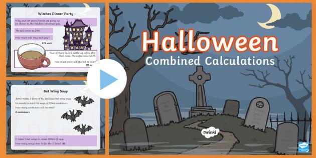 LKS2 Halloween Combined Calculations PowerPoint