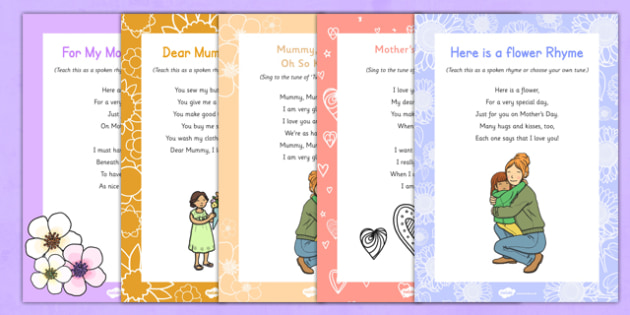 Mother's Day Songs and Rhymes Resource Pack - Mother's Day, Flowers, songs, rhymes, resource pack