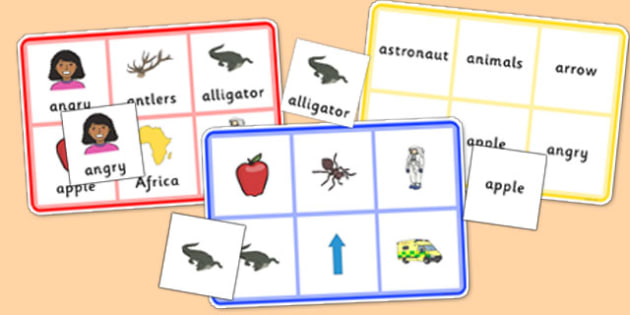 Initial a Sound Bingo and Lotto Game - phonics, letters and sounds, phonemes, phase 1, phase 2, EYFS