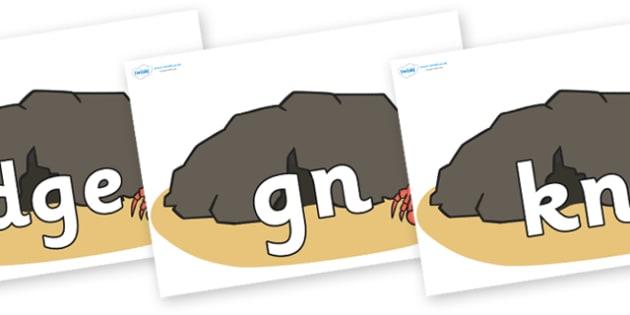 Silent Letters on Caves - Silent Letters, silent letter, letter blend, consonant, consonants, digraph, trigraph, A-Z letters, literacy, alphabet, letters, alternative sounds