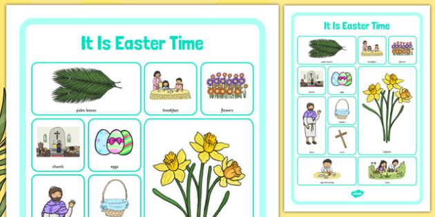 It Is Easter Time Word Grid - it is easter time, easter, word grid, story