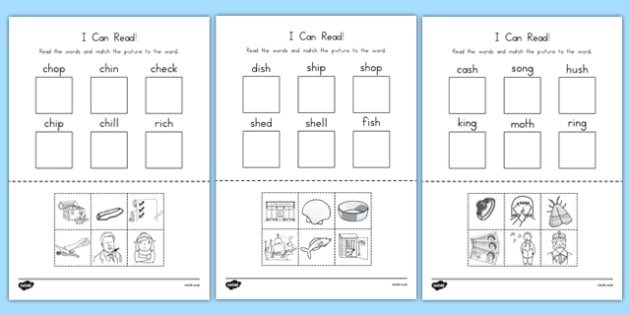 I Can Read Phase 3 Consonant Digraph Words Activity Sheet - australia, read, phase 3, consonant, digraph, words, worksheet