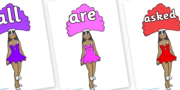 Tricky Words on Dancer - Tricky words, DfES Letters and Sounds, Letters and sounds, display, words