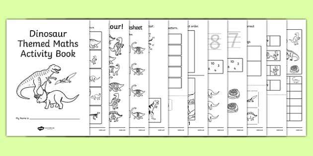 Dinosaur Themed KS1 Maths Activity Book - numeracy, activities