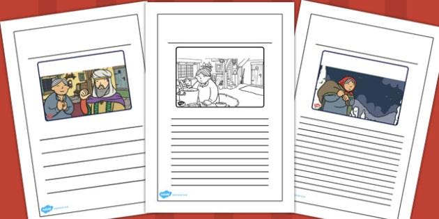 Babushka Story Writing Frames - babushka, story, writing frames