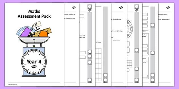 Year 4 Maths Assessment Pack Term 3 - year 4, maths, assessment, pack, term 3
