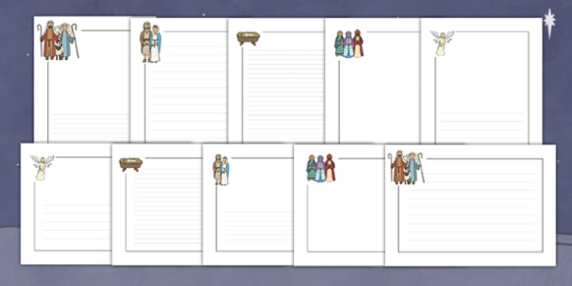 Nativity Themed Page Borders - nativity, page borders, borders