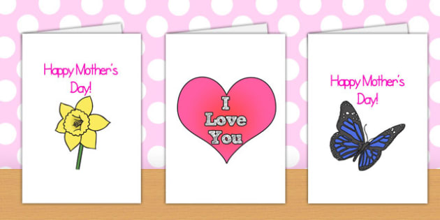Mother's Day Card Full A4 Page Templates - Mother's day, mum, card