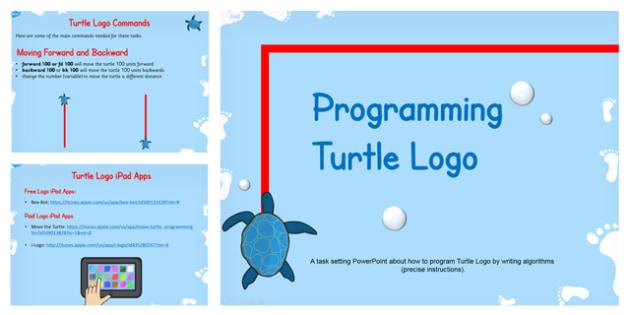 Programming Turtle Logo Writing Algorithms PowerPoint Lesson 1