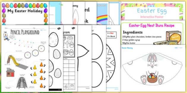 Easter KS1 Home Learning Pack - easter, ks1, home learning, pack, home, learning, home education