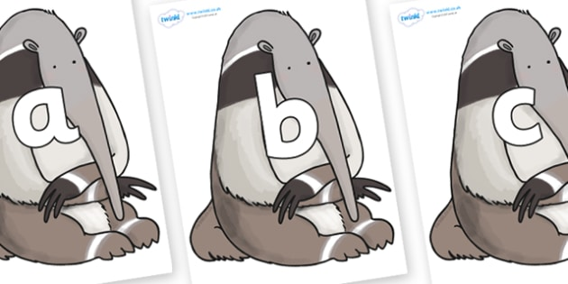 Phoneme Set on Anteater to Support Teaching on The Great Pet Sale - Phoneme set, phonemes, phoneme, Letters and Sounds, DfES, display, Phase 1, Phase 2, Phase 3, Phase 5, Foundation, Literacy