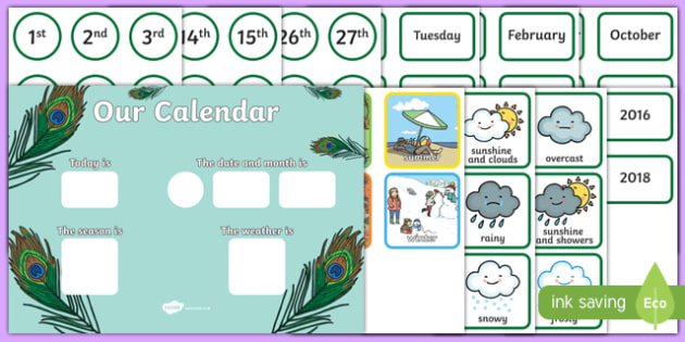 Proud Peacock Display Calendar