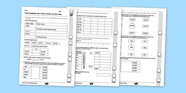 Year 5 Maths Assessment: Place Value Term 3 - Maths, Assessment, Number, Place Value