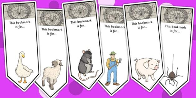 Charlotte's Web Editable Bookmarks - story books, KS2 stories