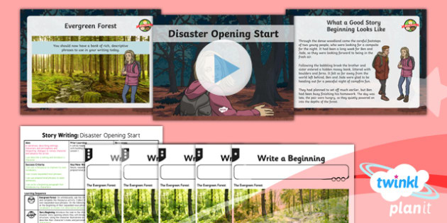 Extreme Earth: Earthquakes and Volcanoes Lesson Pack Story Writing (2)