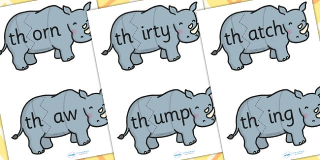 th Sound And Vowel Animal Jigsaw - sound, vowels, jigsaw, animals