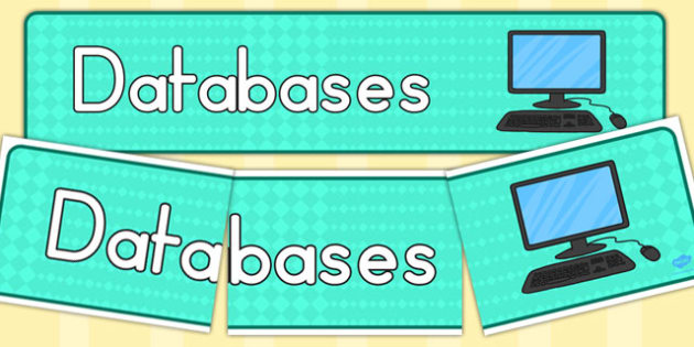 Databases Display Banner - banners, displays, database, visual