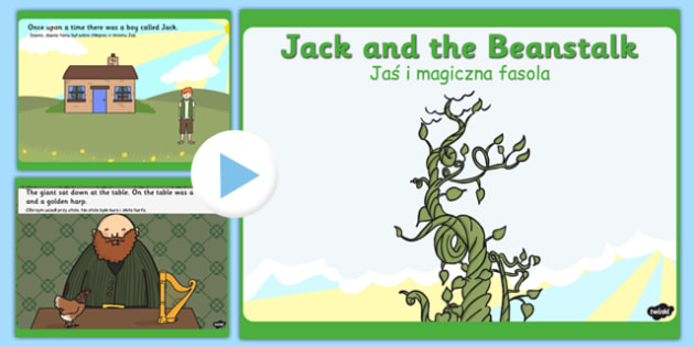 Jack and the Beanstalk Story PowerPoint Polish Translation - traditional tale, presentation, fairytale,  literacy, story, telling,